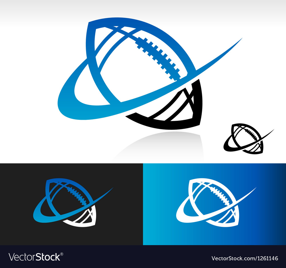 Swoosh football icon vector