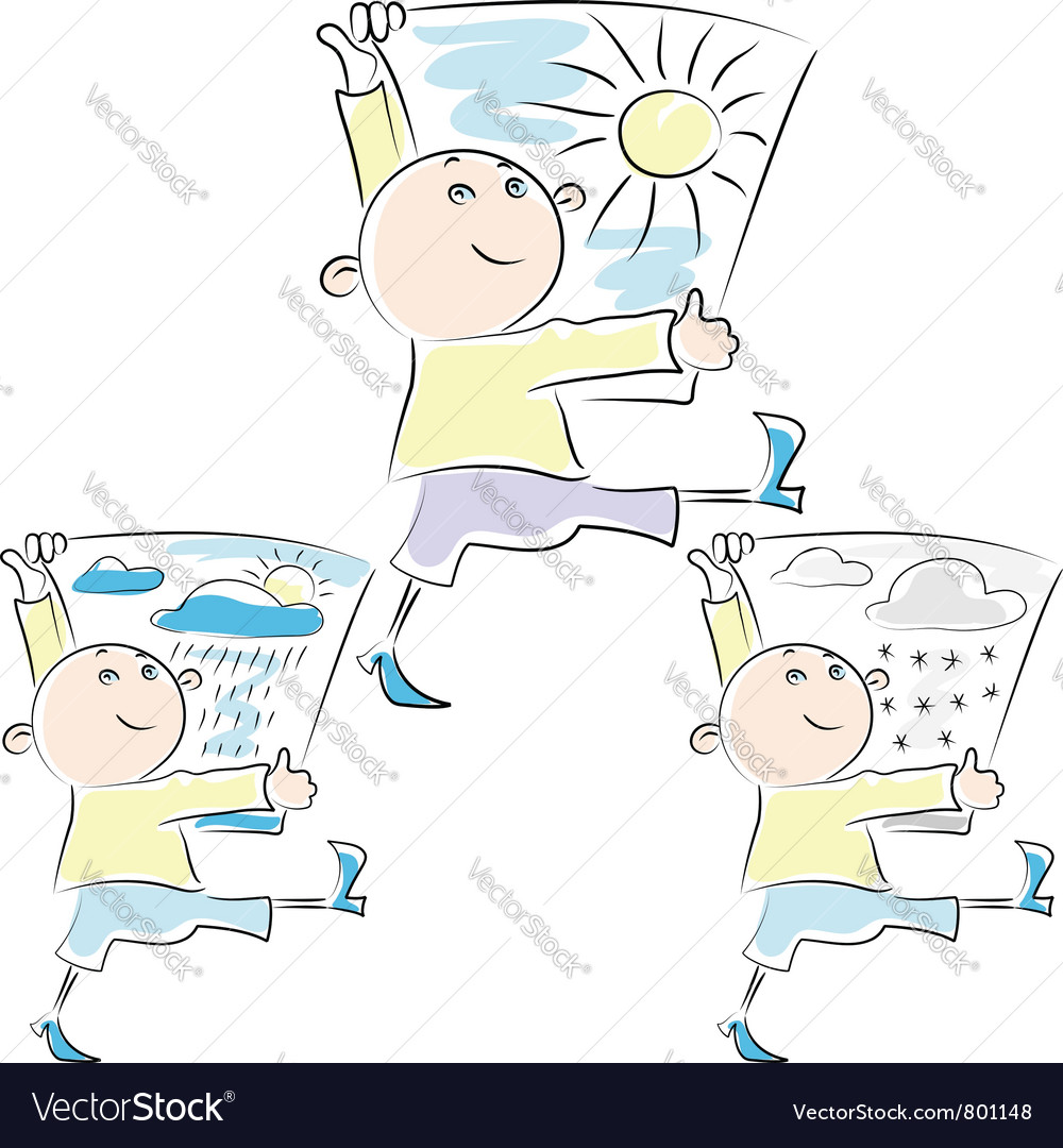 Man walking with placard vector