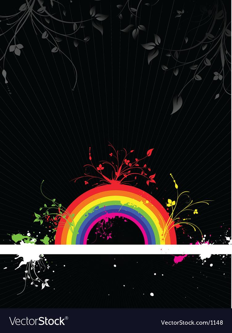 Rainbow grunge vector