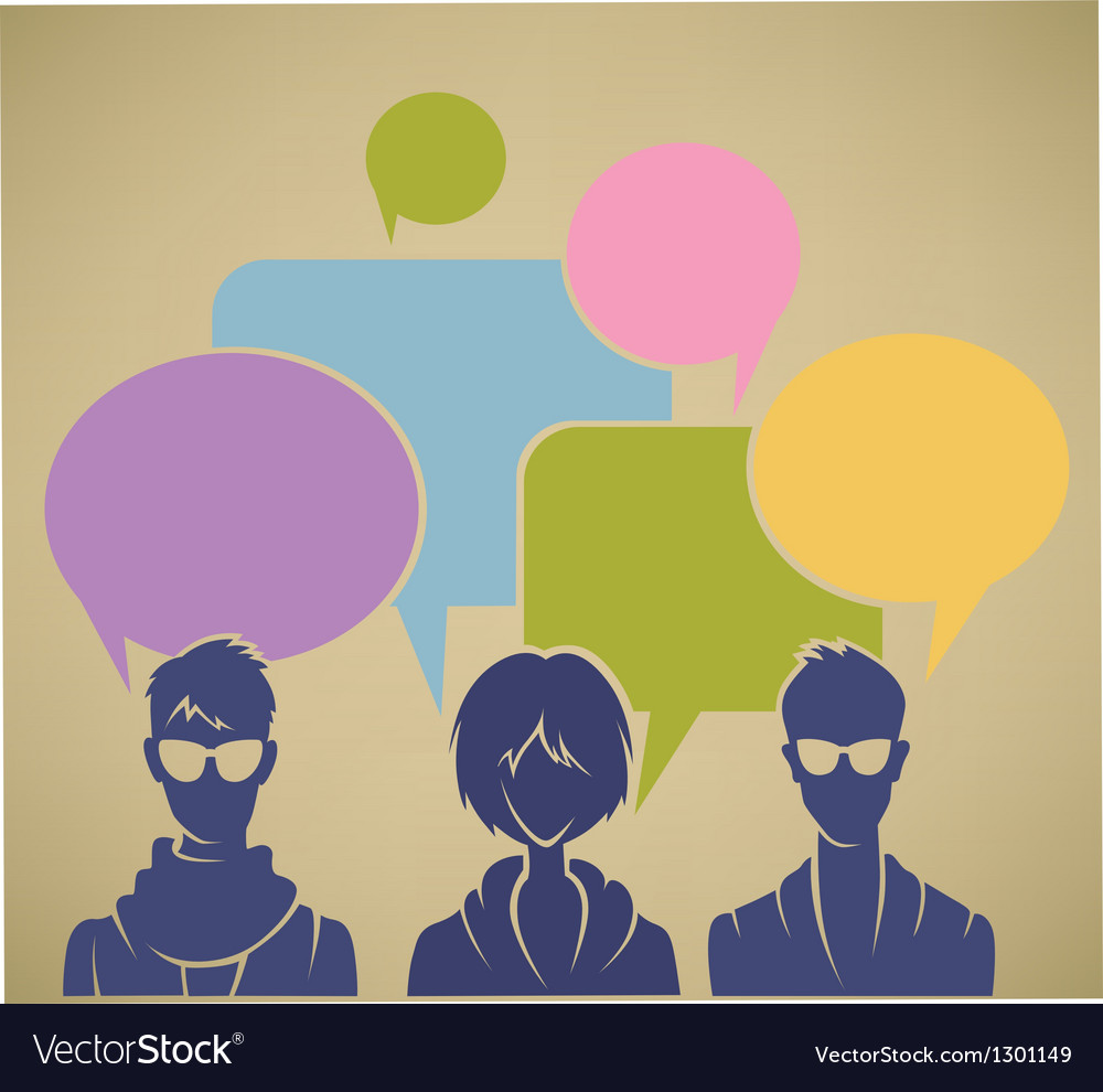 Chatting youht background vector