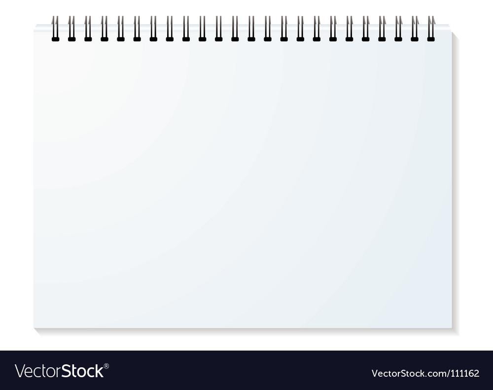 Spiral binder landscape vector