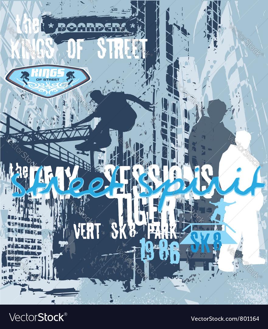Street spirit skater vector
