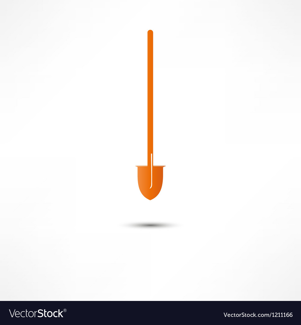 Shovel icon vector