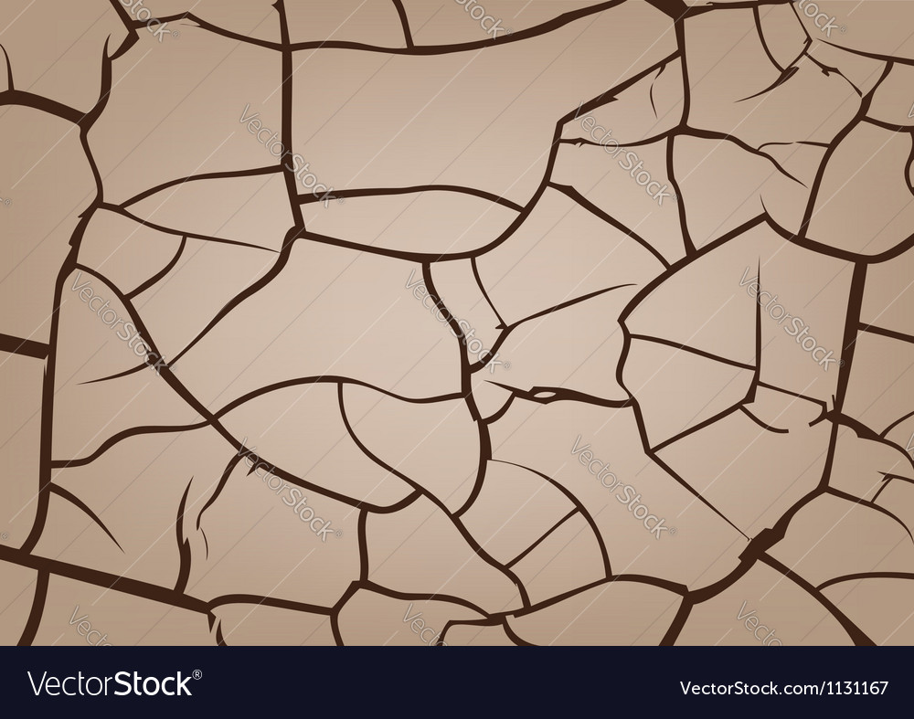 Cracked earth background vector