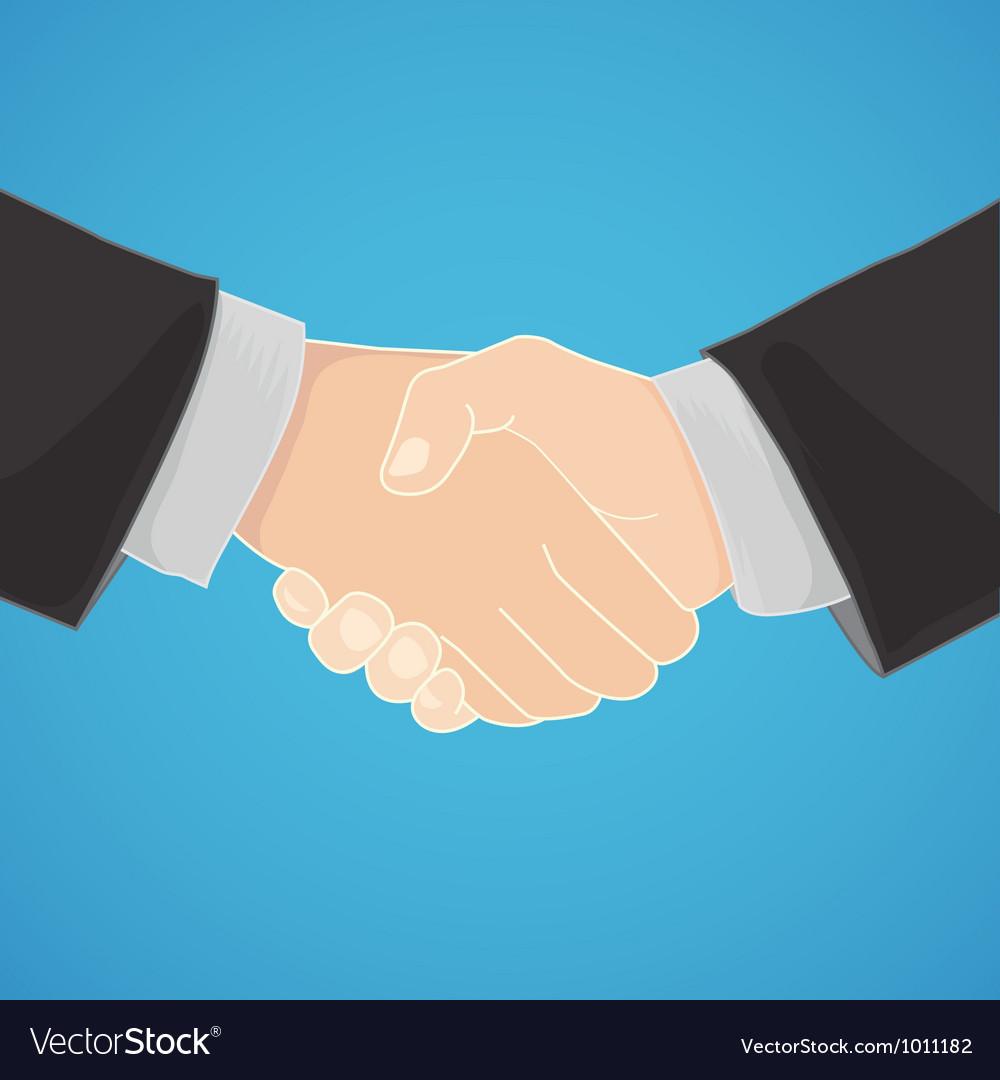Handshake in a businesslike manner vector
