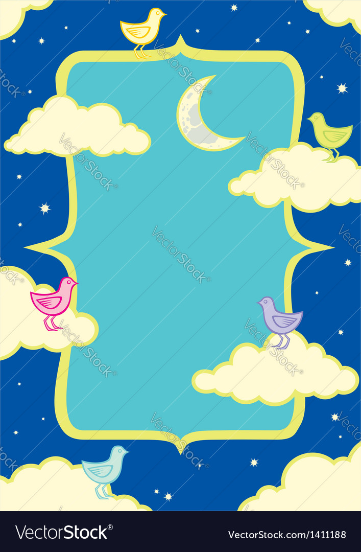 Birds in the clouds vector