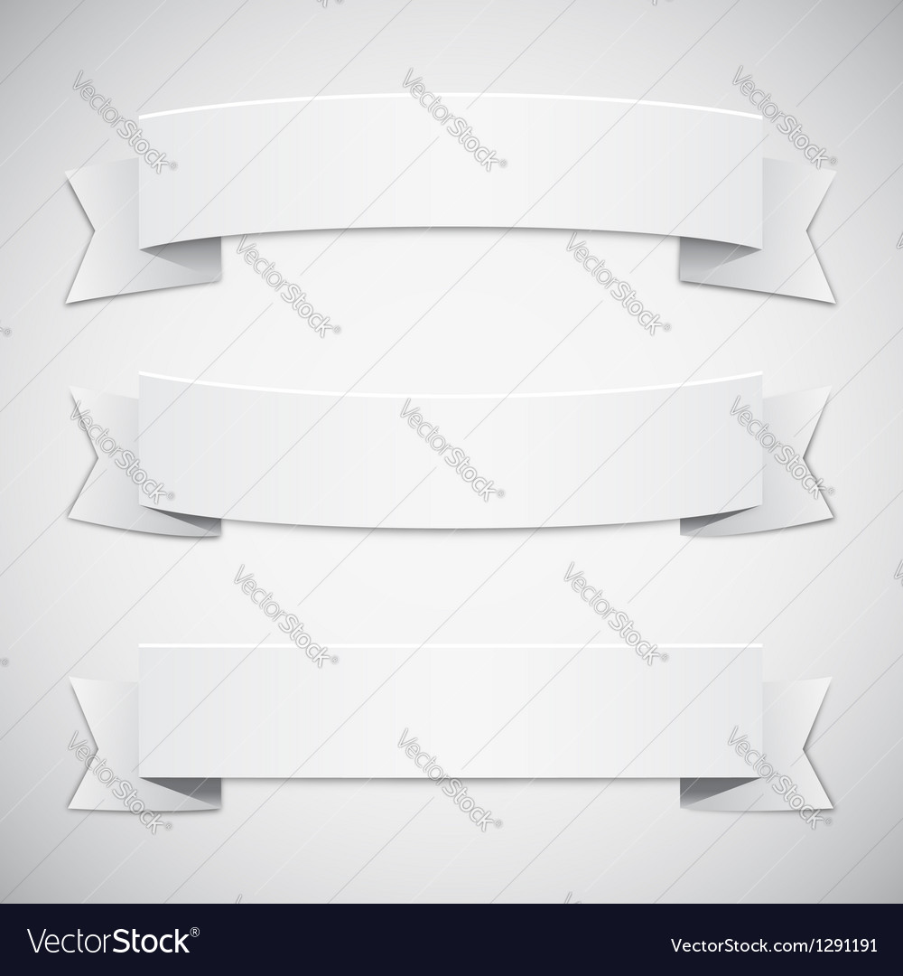 White banners and ribbons vector