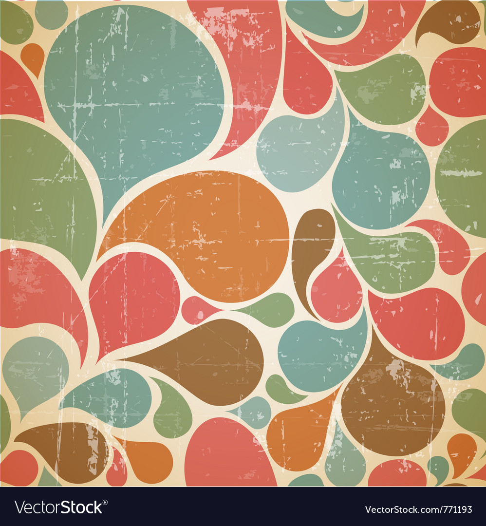 Abstract retro pattern vector