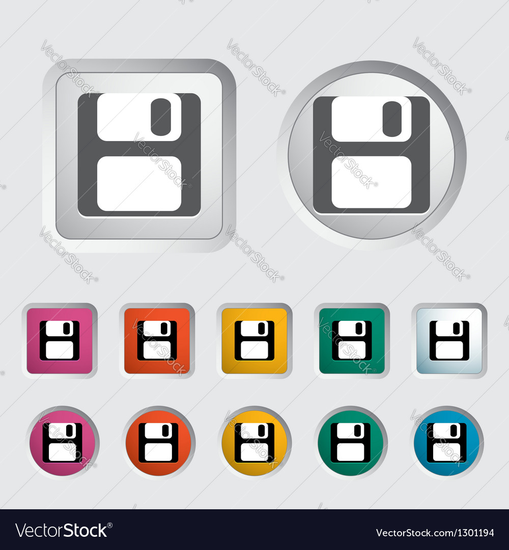 Save icon vector