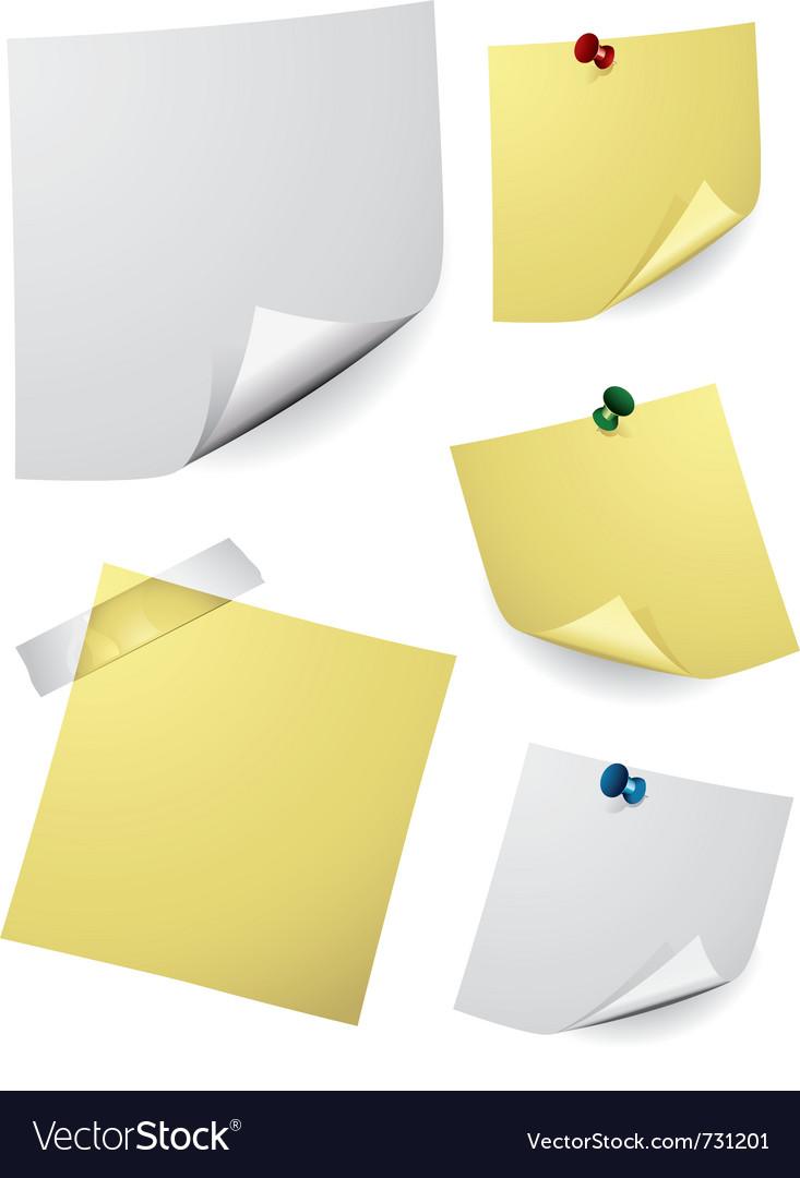 Note paper vector