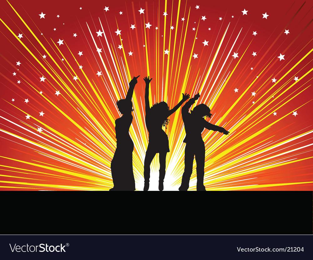 Females dancing vector