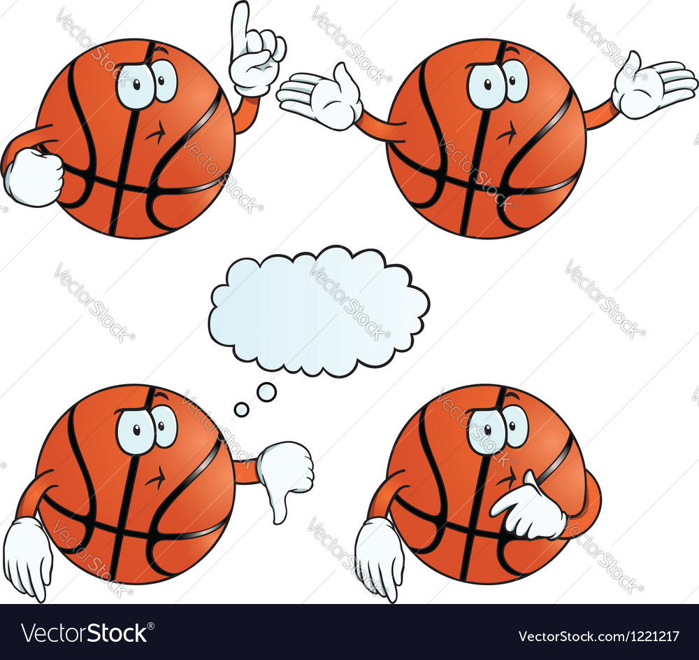 Thinking basketball set vector