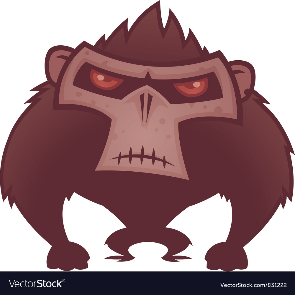 Angry ape vector