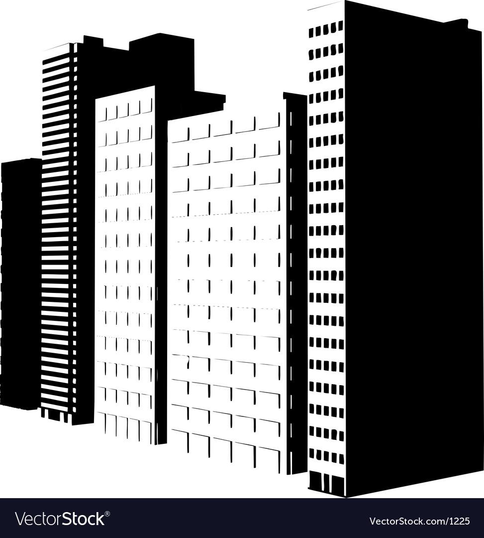 Buildings design vector