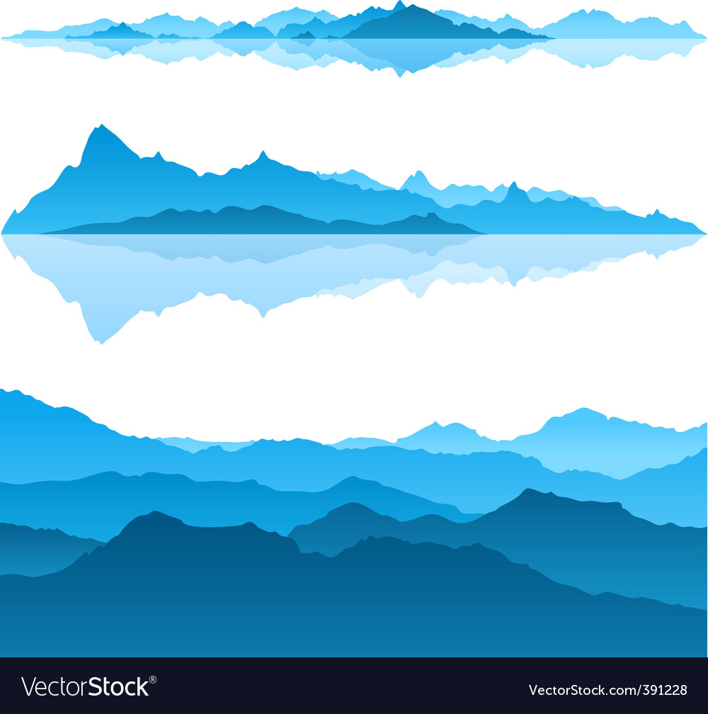 Blue mountains vector