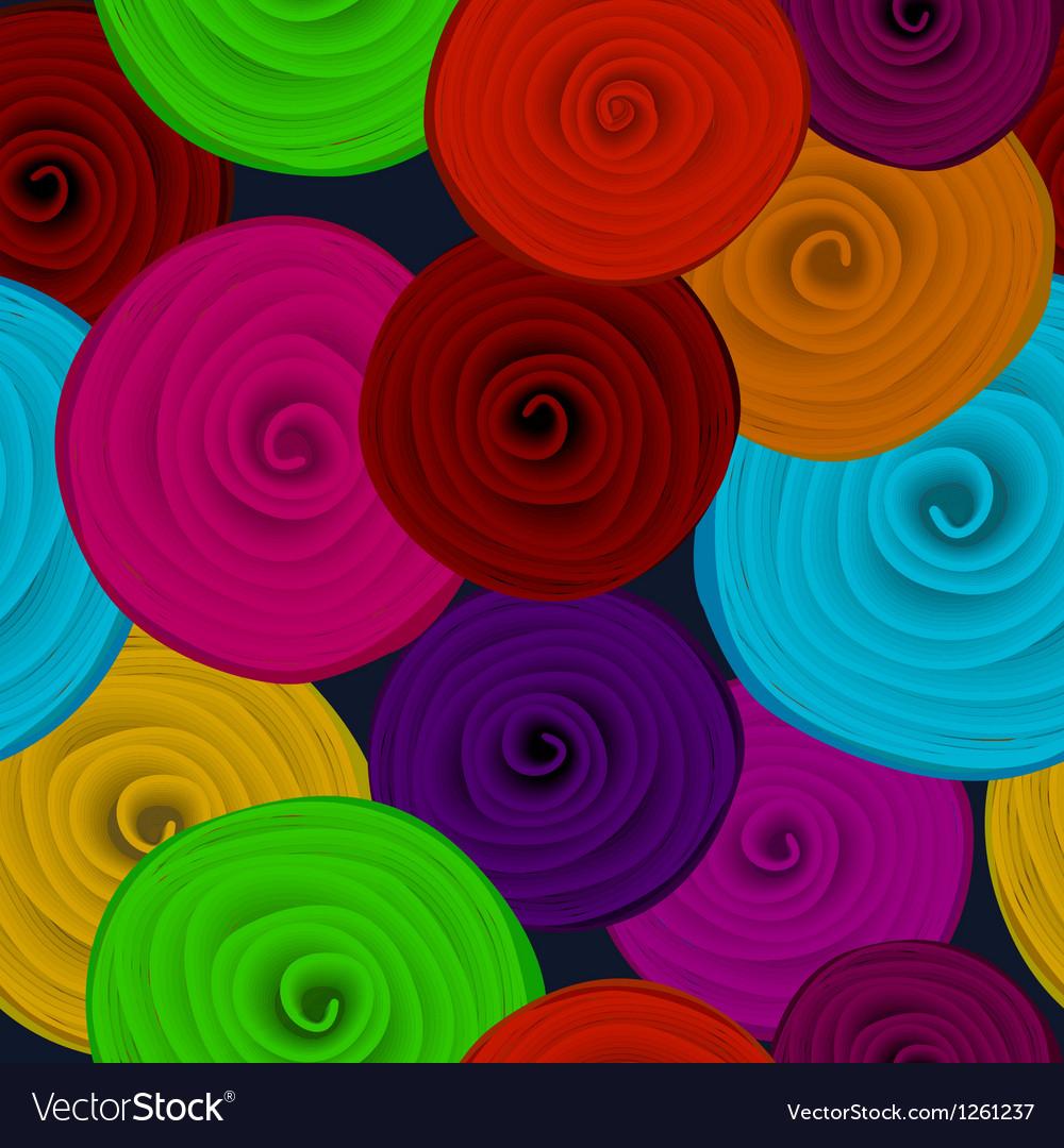 Paper flower seamless vector