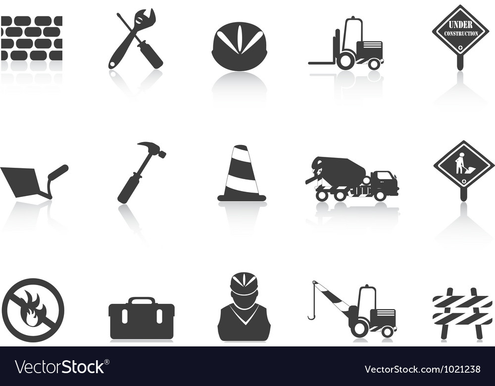 Black construction icon vector