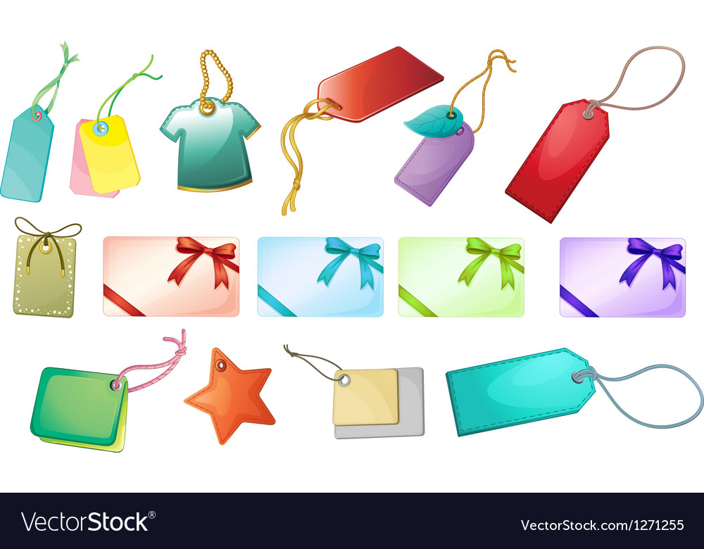 Different tag designs vector