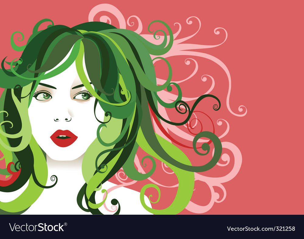 Young woman portrait vector