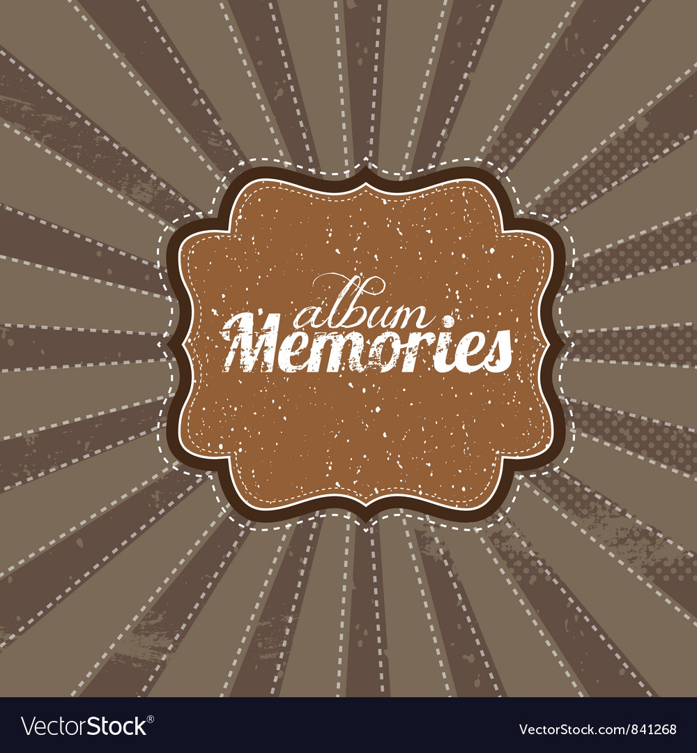 Beige vintage greetings vector