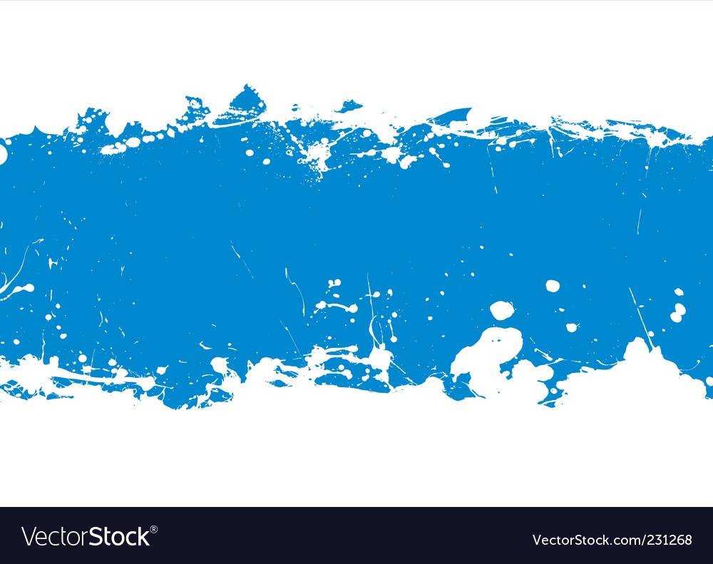Ink splat banner vector