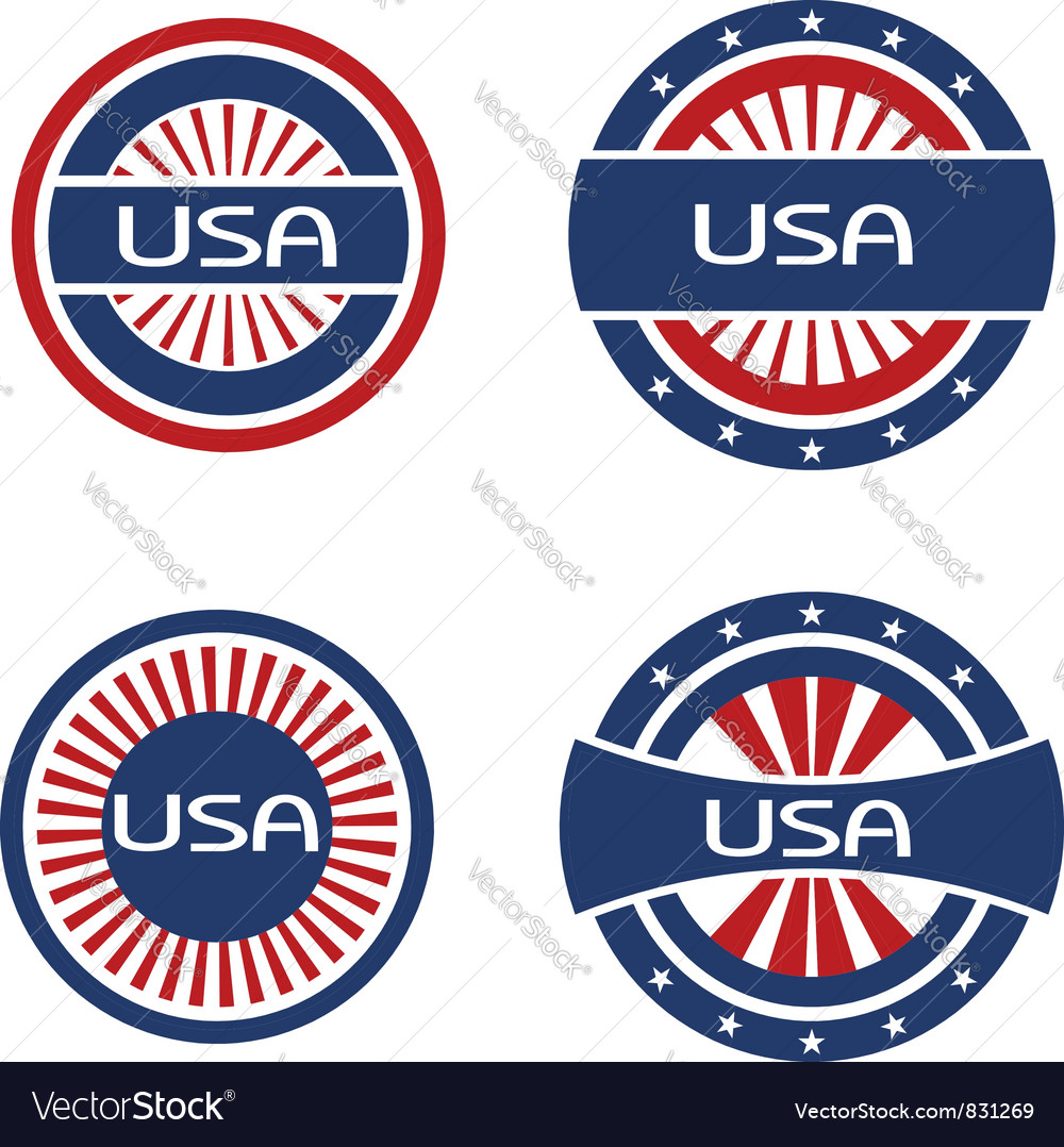Seals usa vector