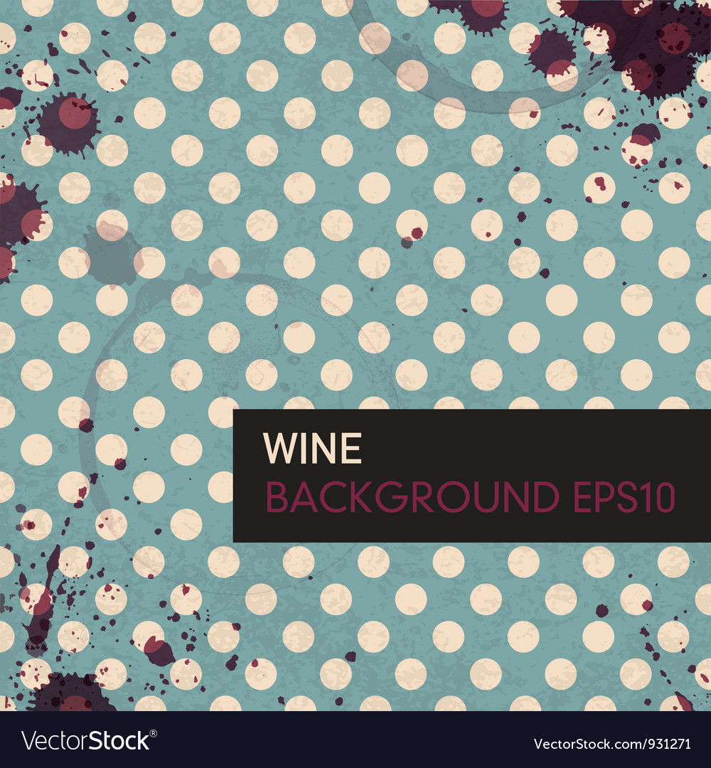 Wine rings on tableclotch vector