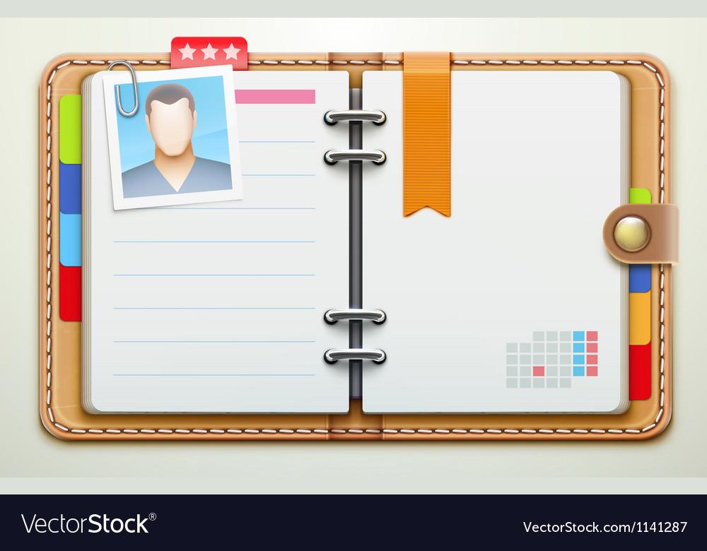 Personal organiser vector