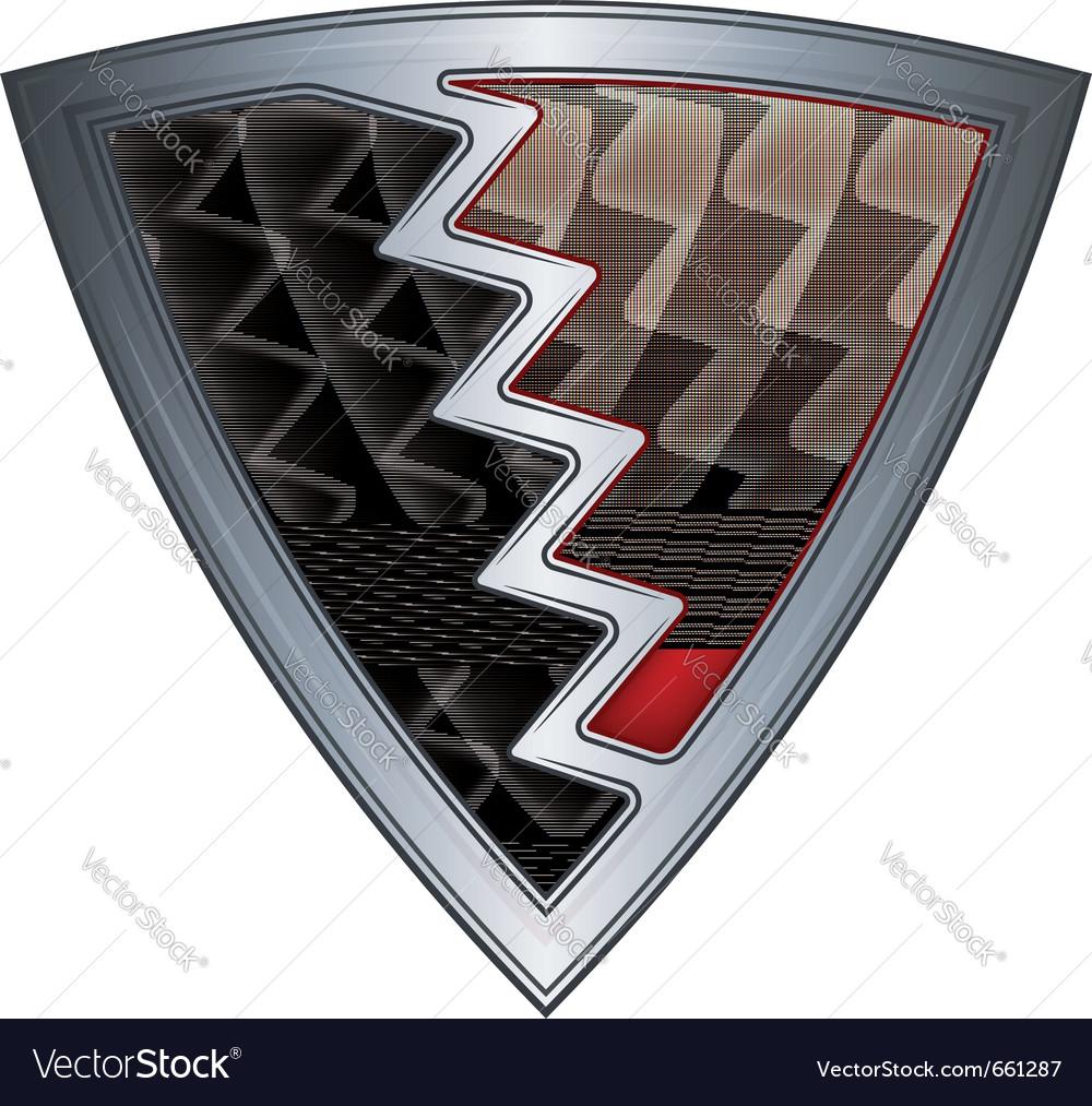 Steel shield with flag bahrain vector