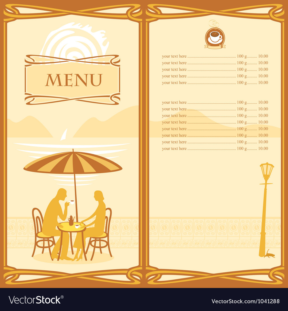 Menu sail vector