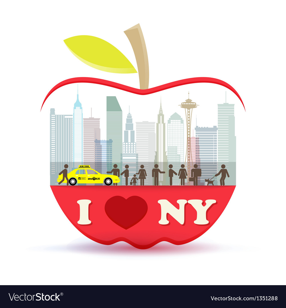 New york city in the big apple vector