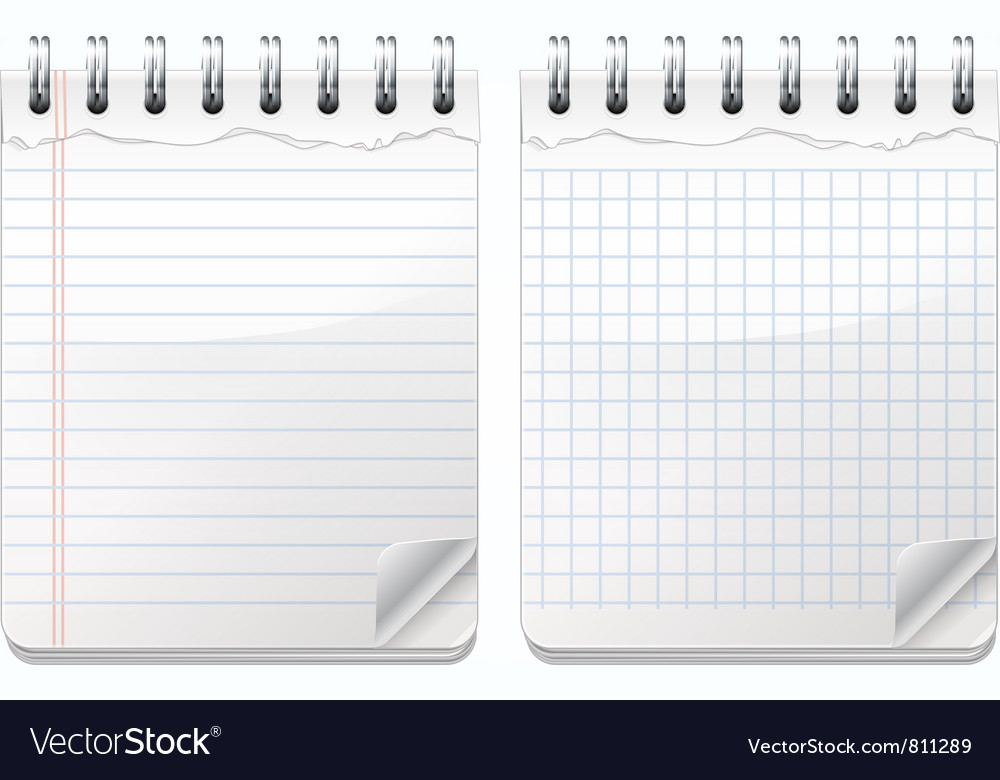 Notepads vector