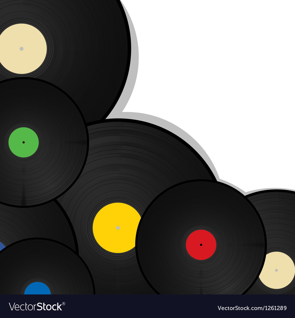 Vinyl background vector