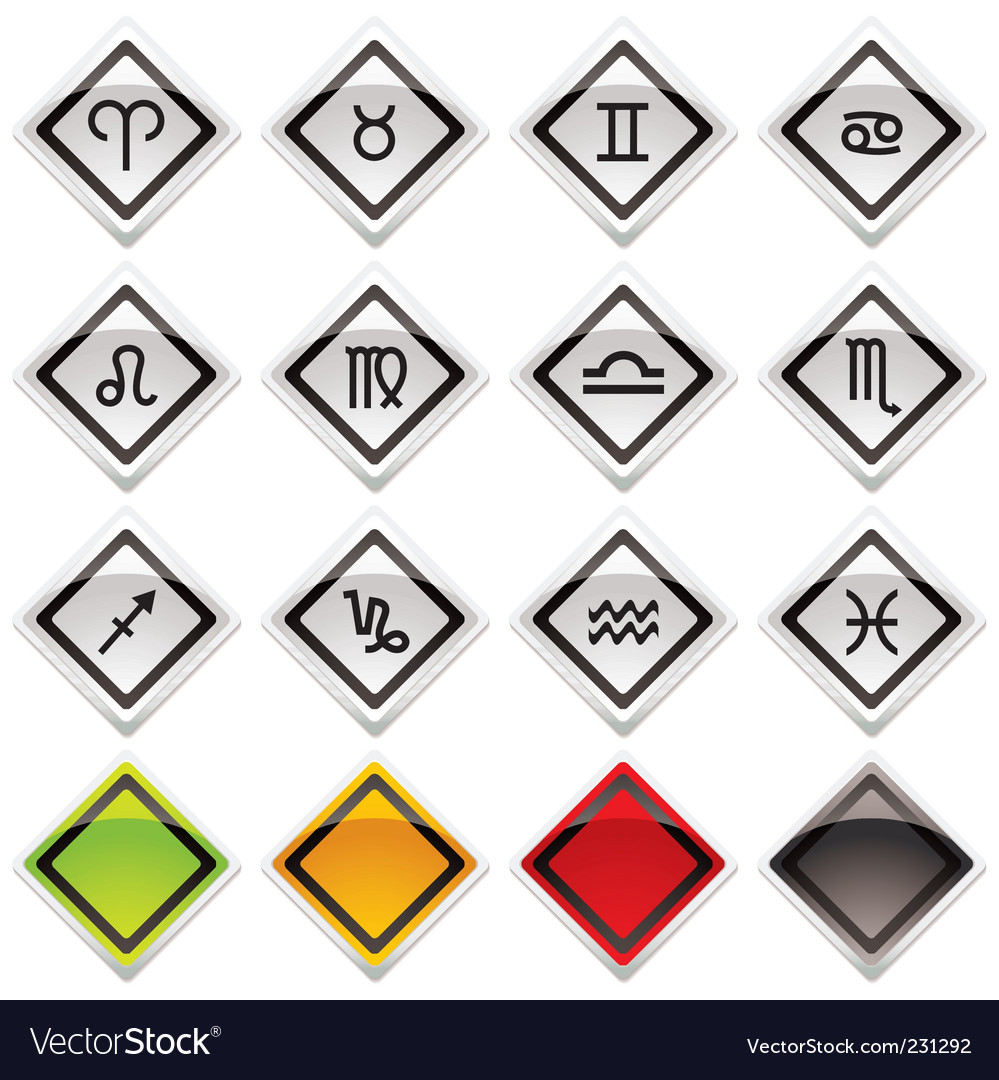Horoscope symbols vector