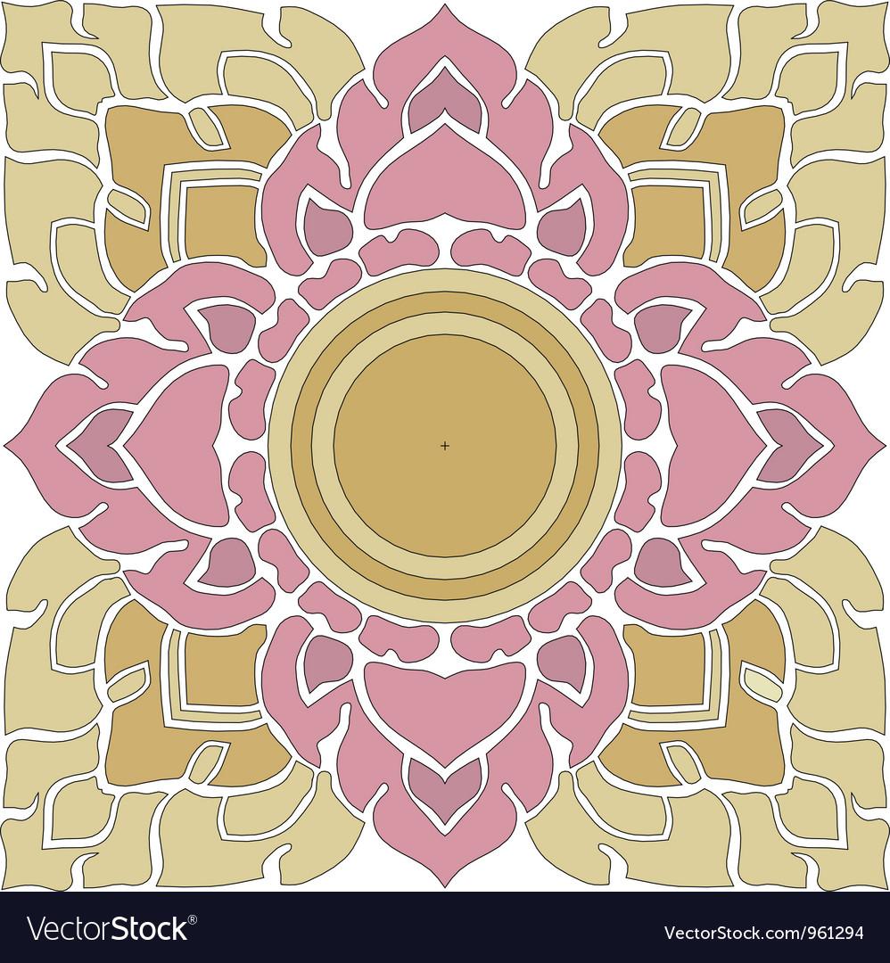 Thai pattern graphic vector