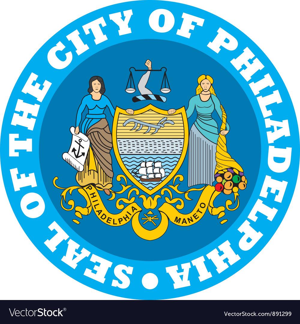 Philadelphia city seal vector