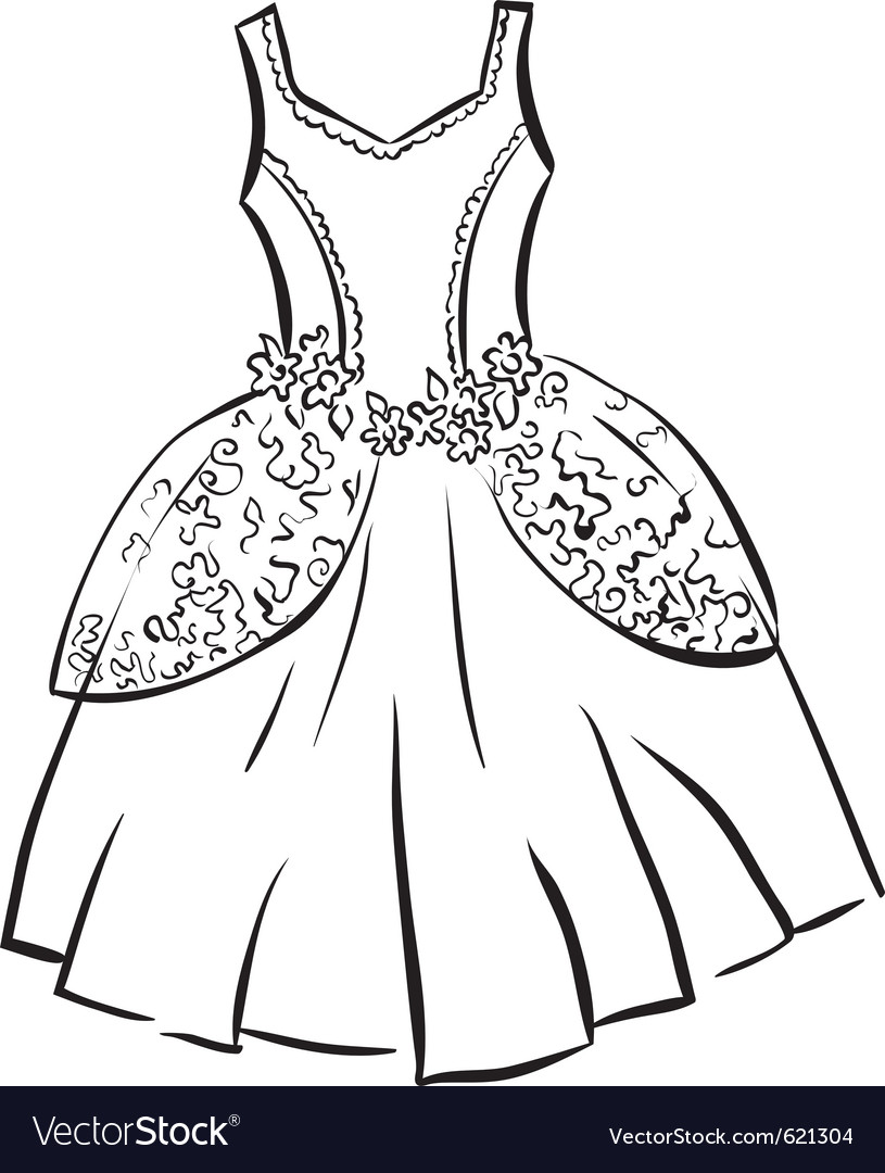 dress outline template