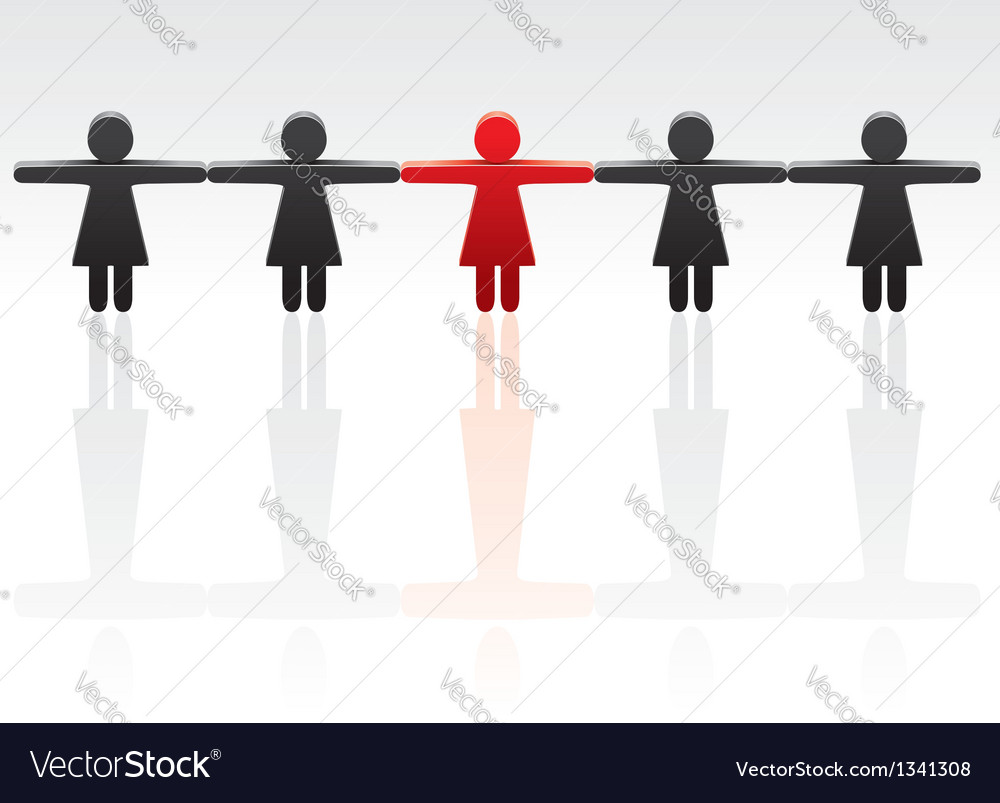 Concept of standing out from the crowd vector