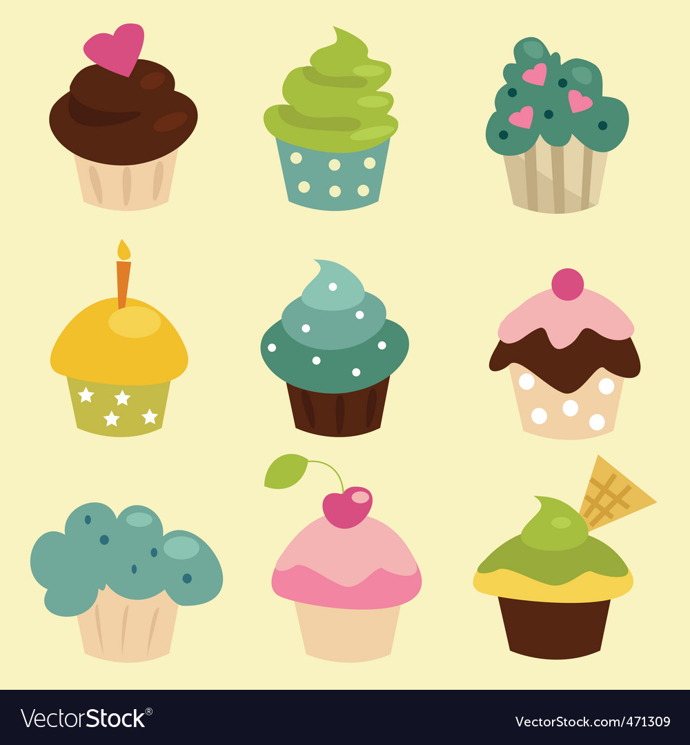 Cupcakes vector