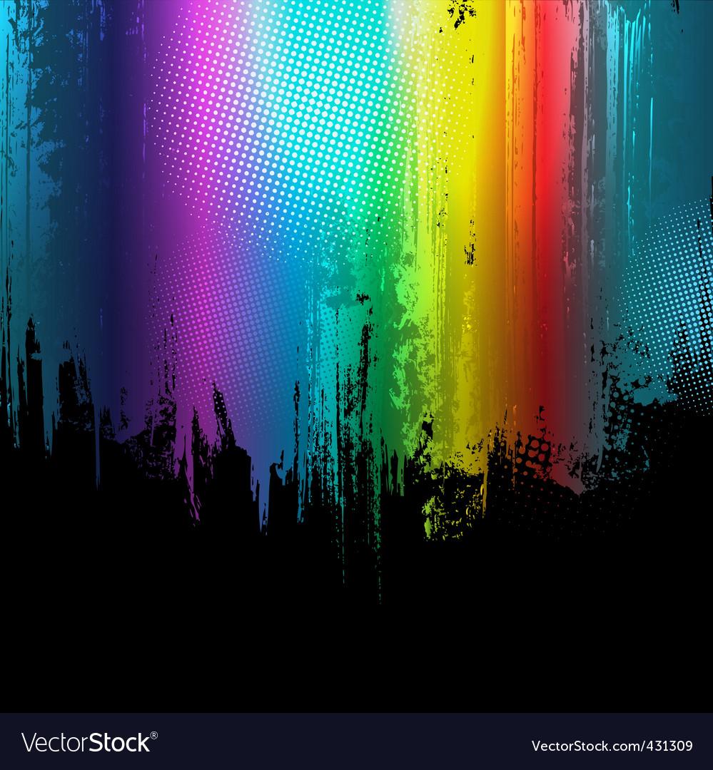 Gradient paint splashes background vector
