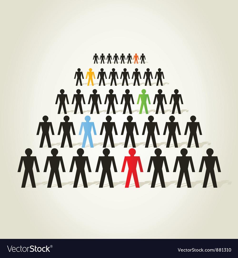 Crowd of people vector