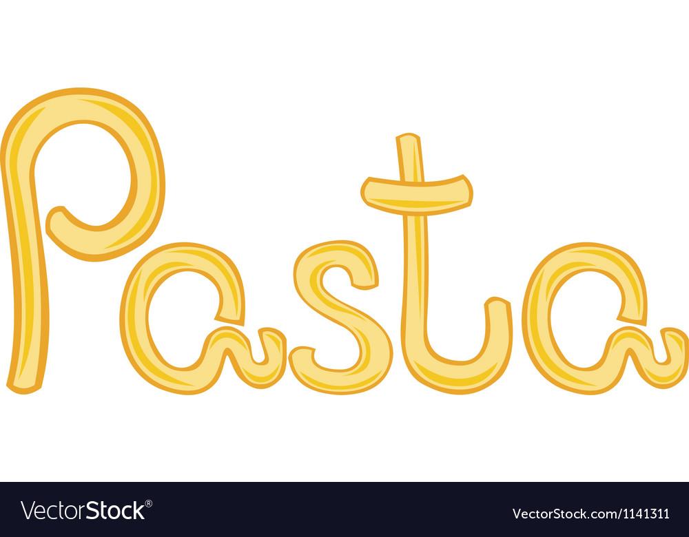 Pasta vector by Irbena - Image #1141311 - VectorStock