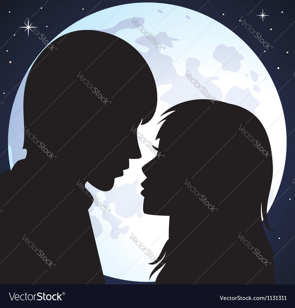 Young man and woman vector
