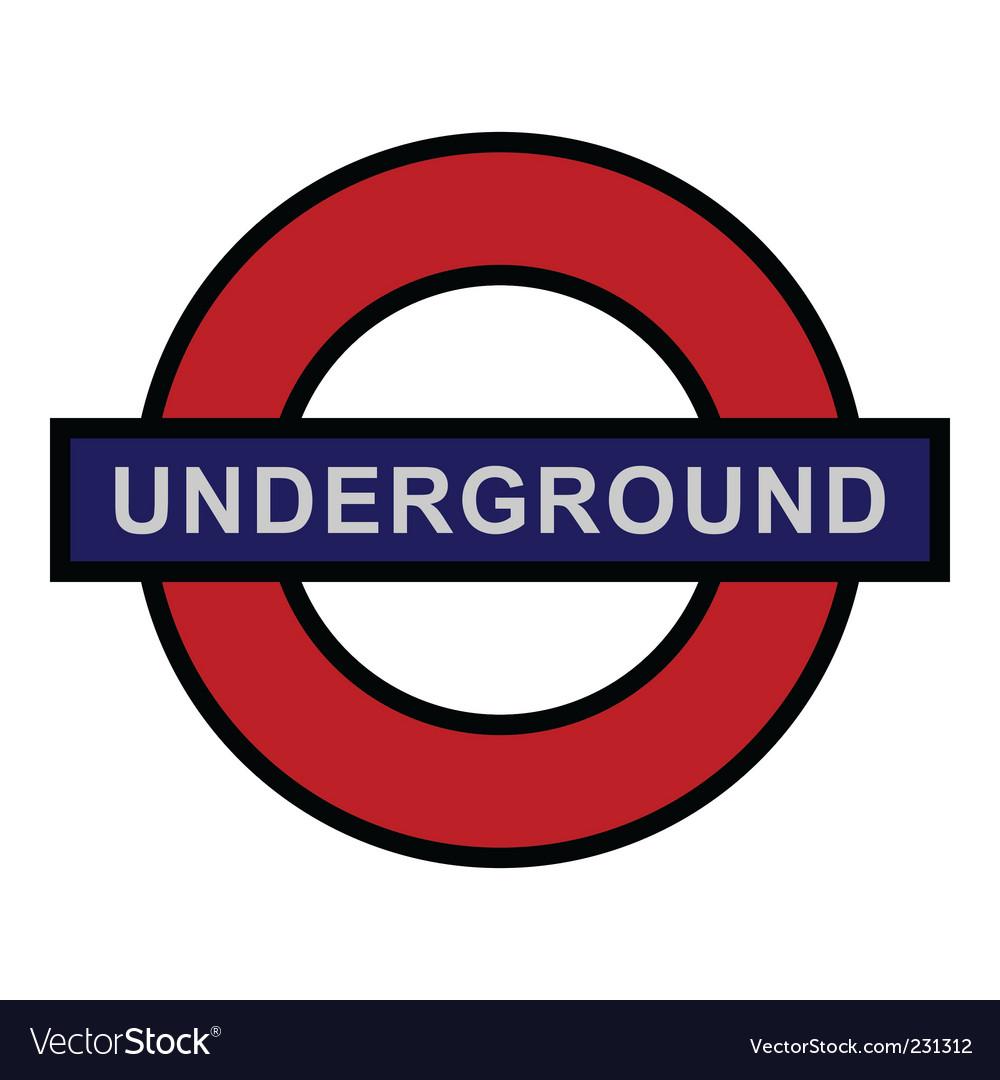 Underground sign vector