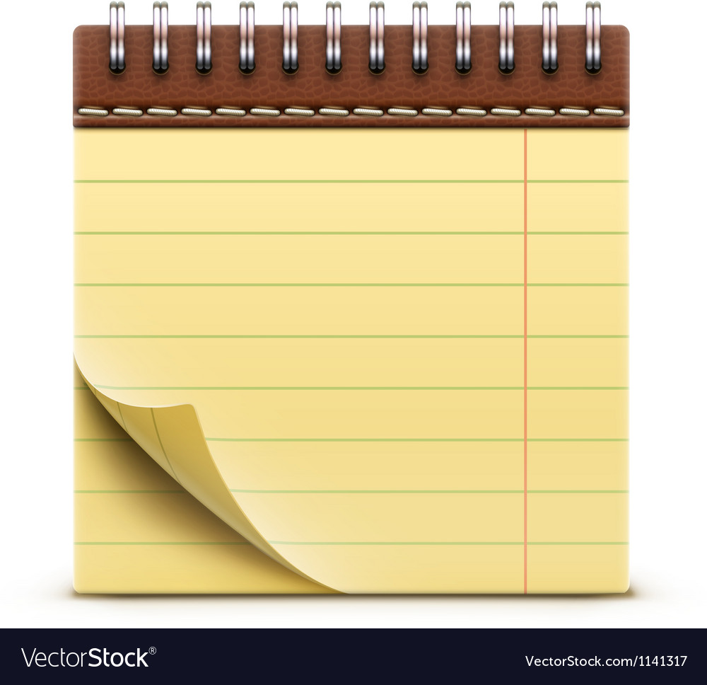 Coil bound notebook vector