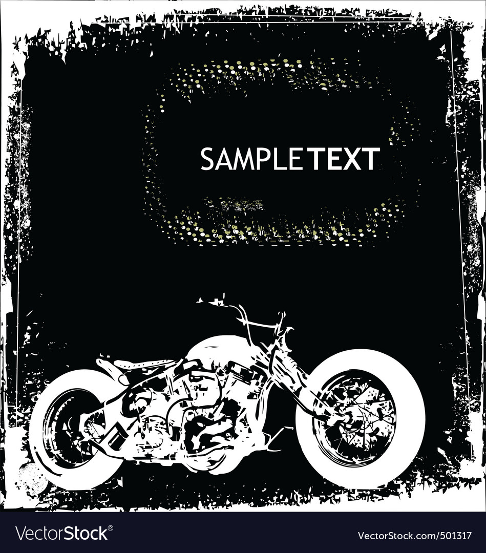 Motorcycle background vector