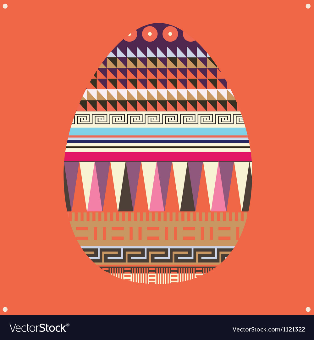 Ornamental easter egg -poster vector