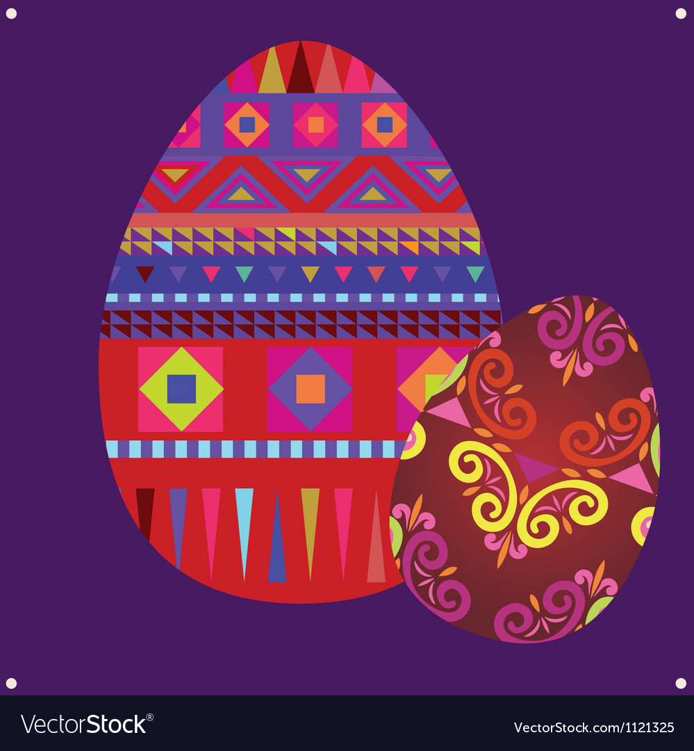 Ornamental easter eggs vector