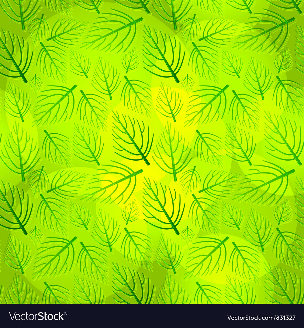 Seamless green pattern vector