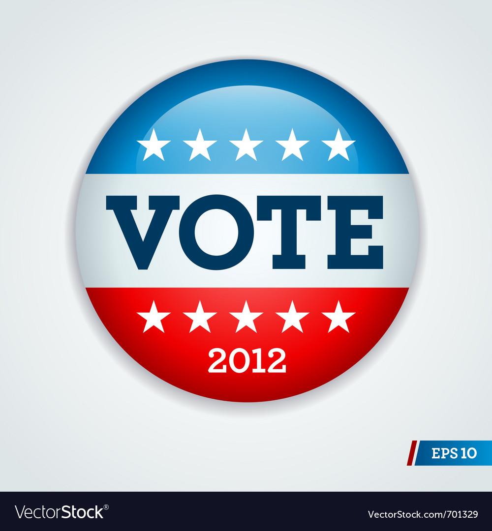 Vote 2012 button vector